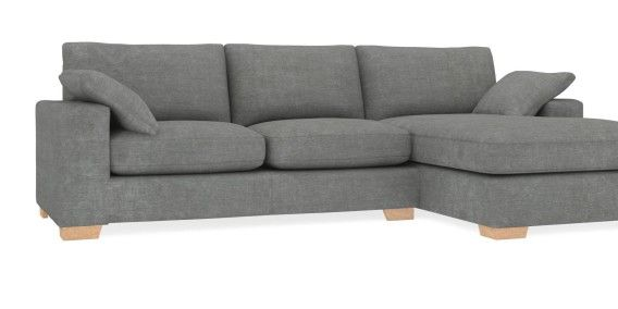 Buy Sonoma II Corner Chaise - Right Hand (4 Seats) Soft Marl Mid French Grey SquareAngle-Light | Next