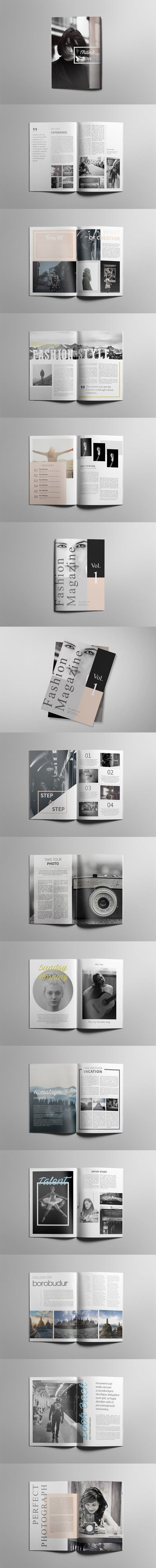 Simple Magazine Template #layout