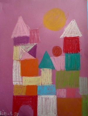 An artist of the month project for Paul Klee. Make templates out of thick foam for Kindergarten
