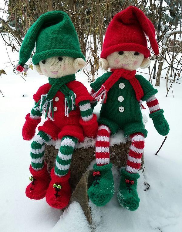 An Elf Duo Christmas Knitting Christmas Knitting