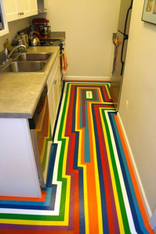 Diy how to give your apartment a bold new floor for less for Floor 80 100 floors