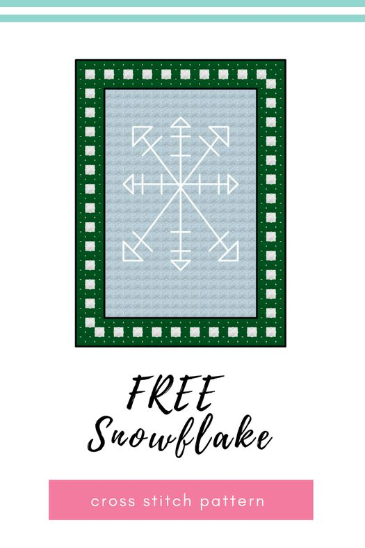 Hmmm, it seems my snowy theme continues. A Nordic inspired simple snowflake design today, quick to stitch up and only a little bit of backstitch. Don't forget you can download all of my advent calendar patterns from my cross stitch pattern page.