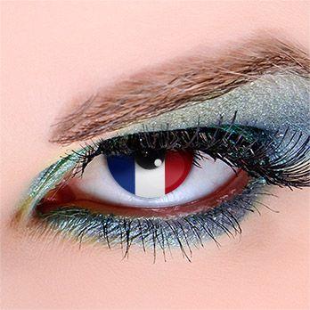 Flagge Frankreich - Kontaktlinsen für Fußball-Fans #WorldCup #football #contacts #fifa #france