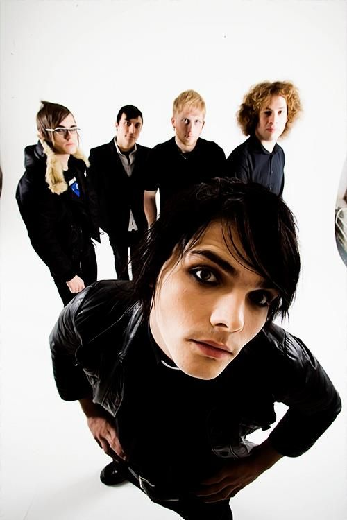 My Chemical Romance. I just want to eat his face off he's so cute.
