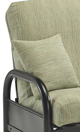 Fashion Bed Group Saturn Adjustable Metal Industrial Futon Frame, Black