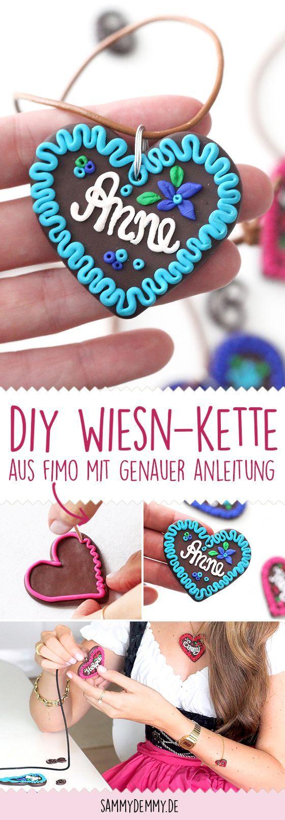 DIY Wiesn Herz Halskette – DIY Geschenkidee   – DIY Geschenkideen