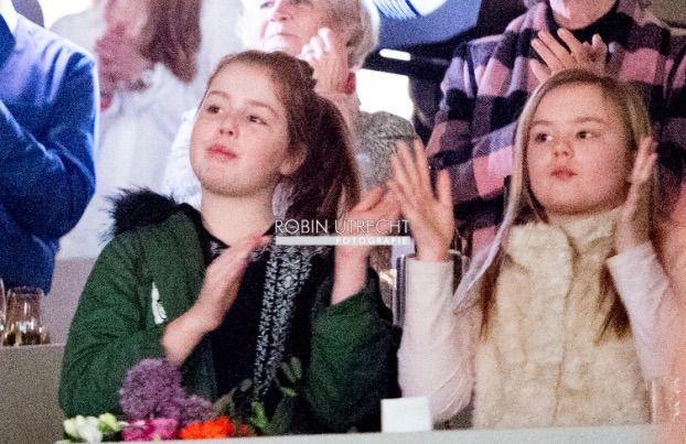 Princesses Alexia et Ariane, 15 mars 2017, Compétition d'équitation : Indoor Brabant, Brabanthallen 's-Hertogenbosch, s-Hertogenbosch (Pays-Bas)
