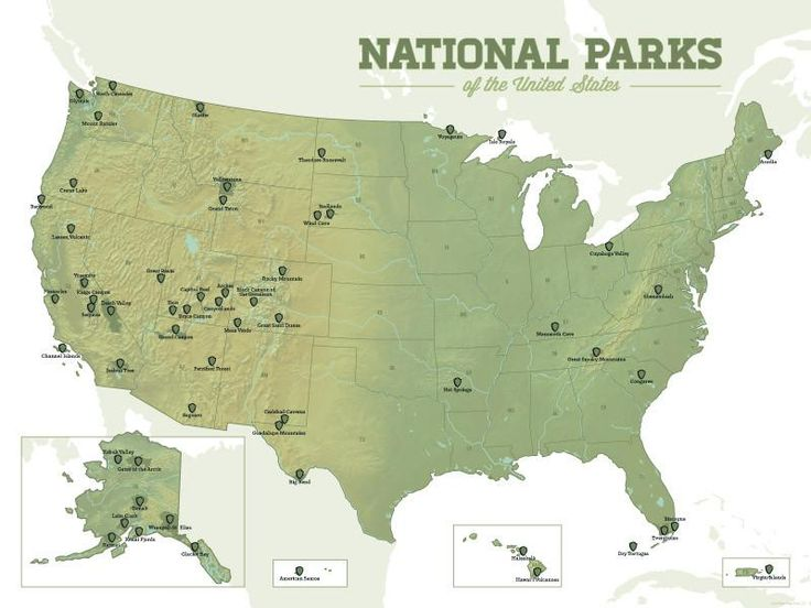 Best 25 Us national parks map ideas on Pinterest National parks