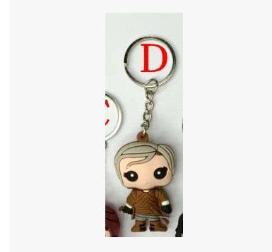 Game of thrones Jon Snow Daenerys targaryen keychain 2016 New 3D Game of thrones Ice and Fires Imp pocket pop Car key chain