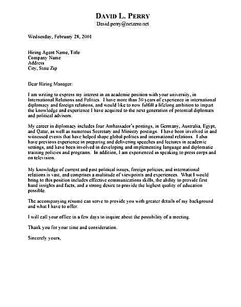 international relations cover letters