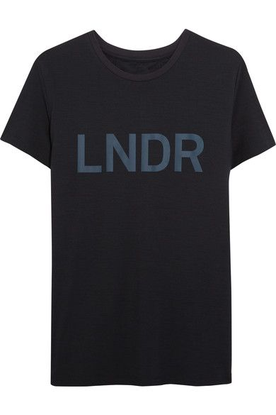 LNDR - Printed Jersey T-shirt - Navy - x small