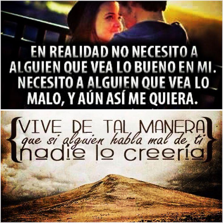 Necesito alguien que vea lo malo y si le cuentan lo malo de mi, NO LES CREERÍA...by @cmctin