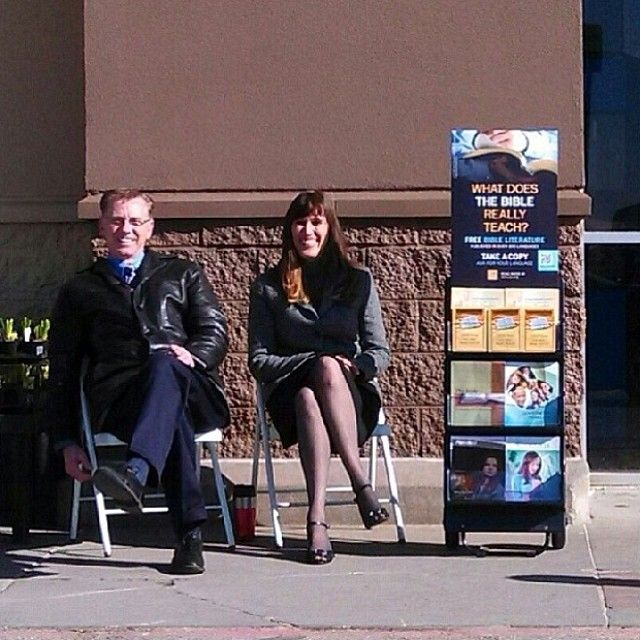 Public witnessing at the local Walmart in Platteville, Wisconsin. JW.org  --Photo shared by @Chris Cote Sertle