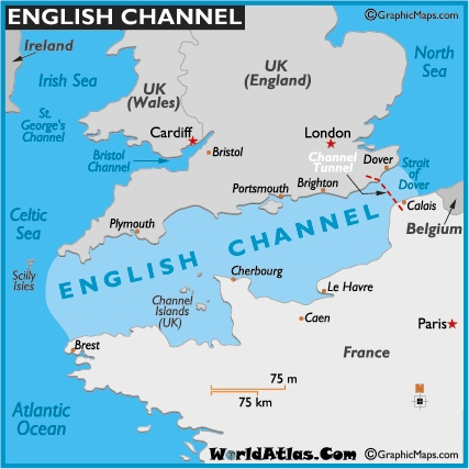 Some 10,000 years ago as the last Ice Age melted away, new bodies of water formed including the English Channel....