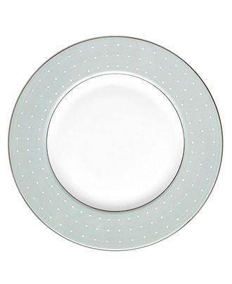 Monique Lhuillier Waterford Dinnerware, Etoile Platinum Blue Accent Plate - Fine China - Dining & Entertaining - Macy's Bridal and Wedding R...