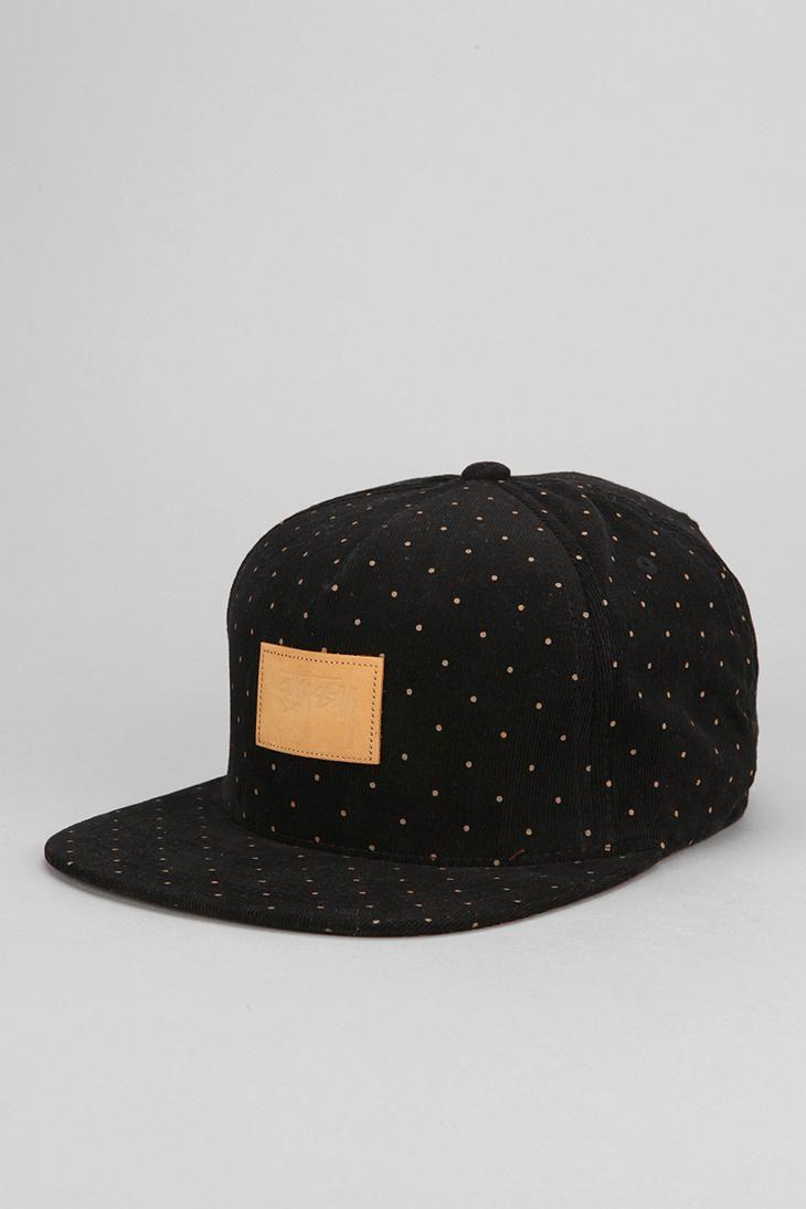 Stussy Polka Dot Corduroy Strap-Back Hat