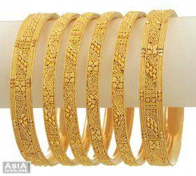 Indian Gold Bangles Collection-Beautifull Gold Bangles set