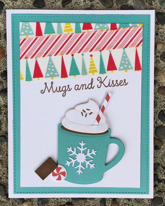 Card Hot Cocoa Cups Die namics Hug in