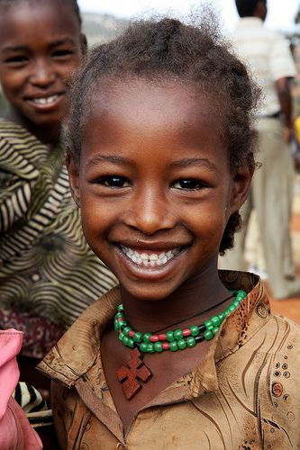 Girl with beautiful smile. I always think the people of Africa have such…
