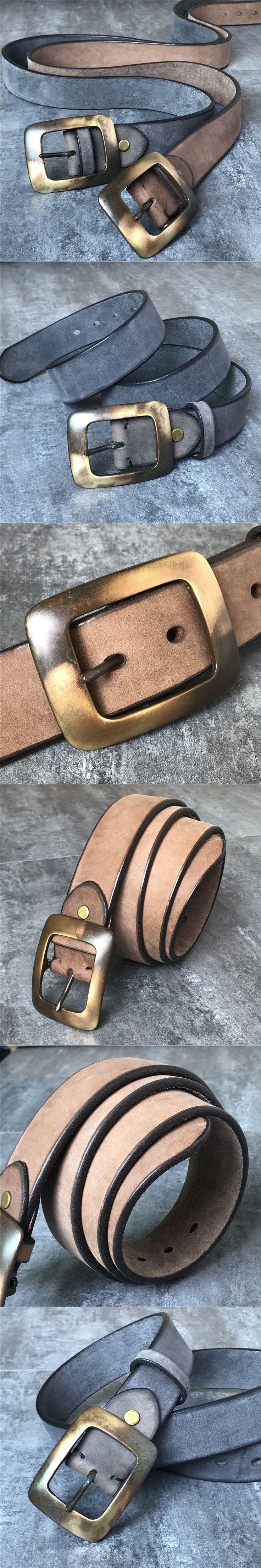 Super Thick Retro Genuine Leather Men Belt Cowboy Vintage Belt Buckle Ceinture Homme Jeans Strap  Ceinture Homme Cinto MBT0506