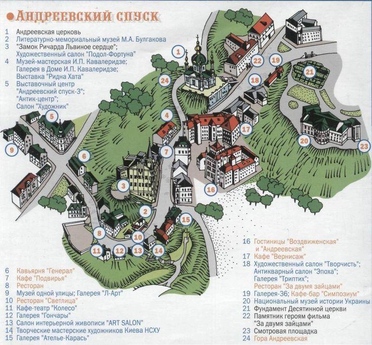 Андреевский спуск — сердце старинного Киева
