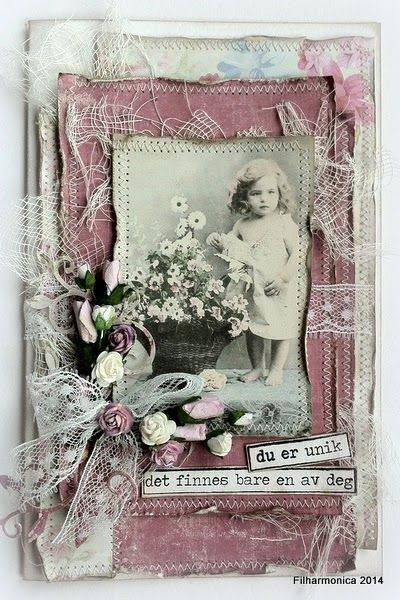 Filharmonicas kreative verden - DT card for Card and Scrap March