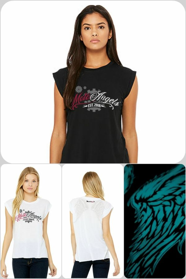 e254621237253b MotoAngels™ Ladies Antimicrobial Muscle Tee