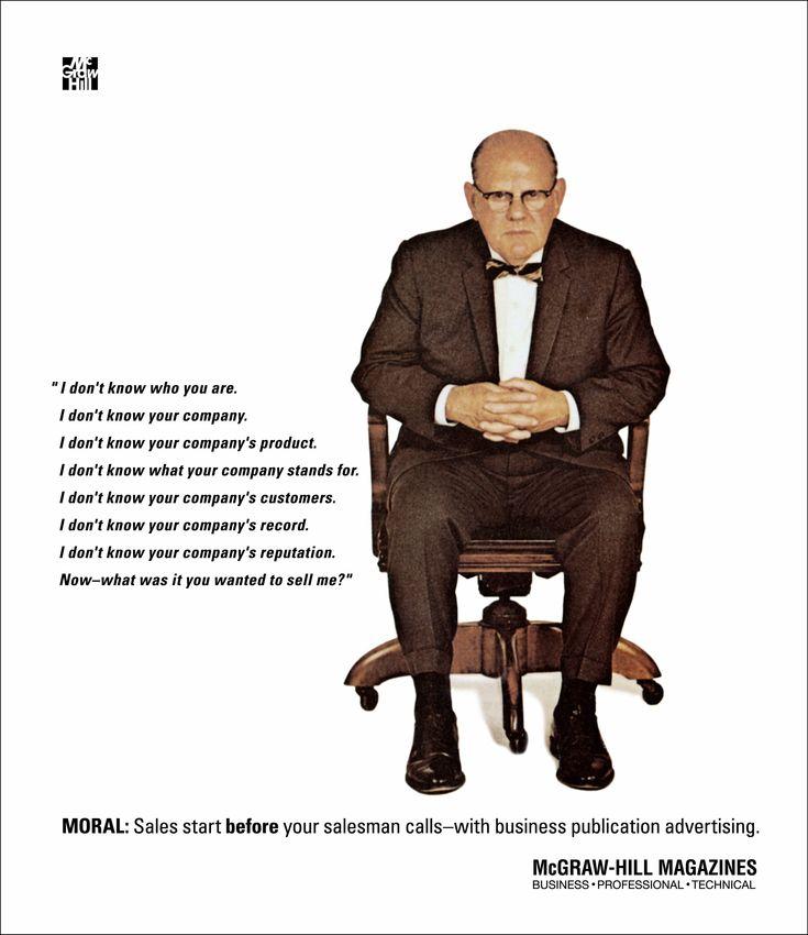 Classic McGraw-Hill #B2B advertisement. Old procurement guy via the Marketing Prof @MonashUni