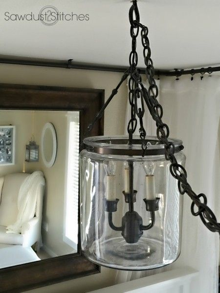 So, it's not a mason jar but what a fab light fixture made from a jar!