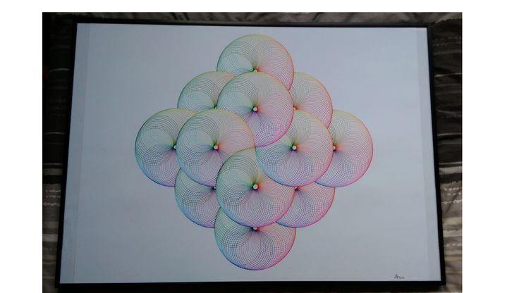 Rainbow Torus - 50 x 60cm - Pen and Ink