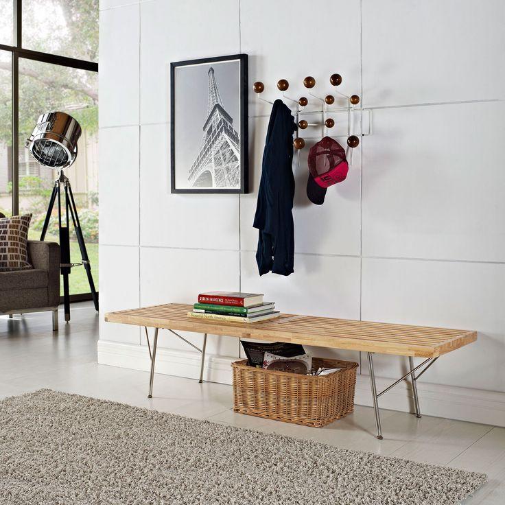 Modway Furniture Vantage Medium Bench In Natural