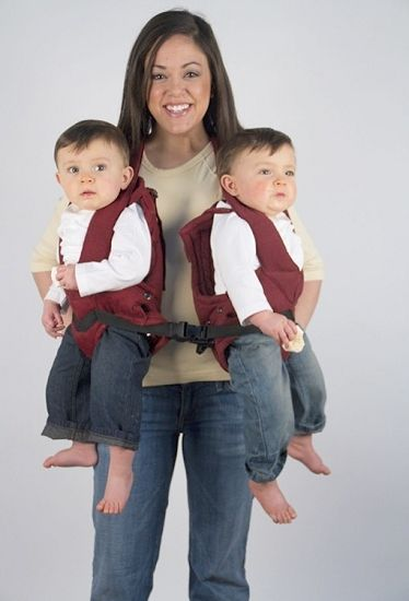 Twintrexx twin baby carrier those boys look huge
