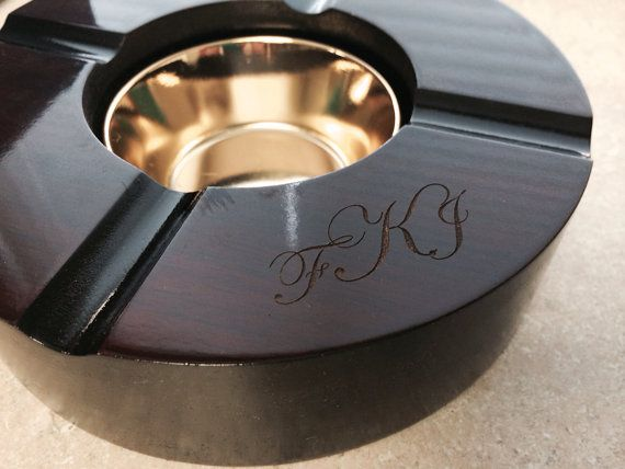 Personalized Cigar Ashtray 4 Cigar Guy Gift By