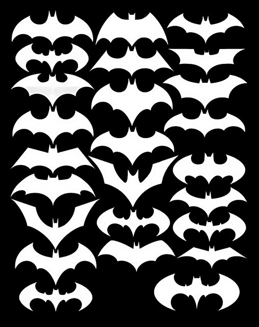 Bat Symbols Through Years