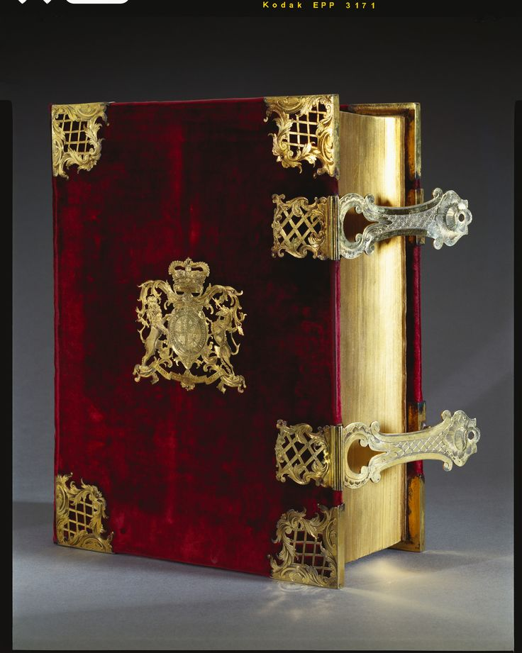 Coronation Bible, with prayer book and psalter, used by King George III. | Royal Collection Trust. 1747