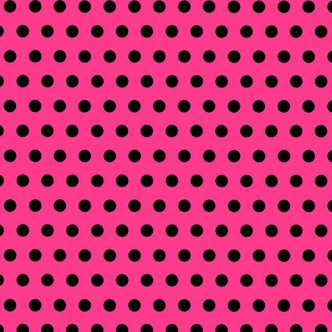 Pink And Black Polka Dot Background Or Digital Paper Image With