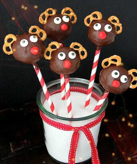 Rudi the red nosed reindeer - cake pops