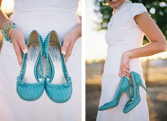 colorful wedding shoes, fun colored wedding shoes, wedding shoe inspiration, lace wedding dress, teal wedding shoes