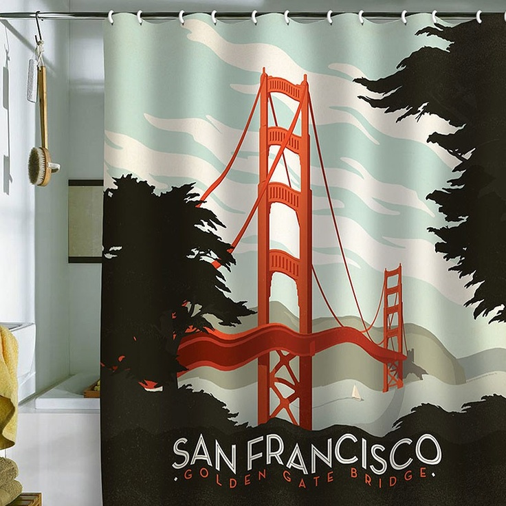 DENY Designs Anderson Design Group San Francisco Shower Curtain   Pure Home