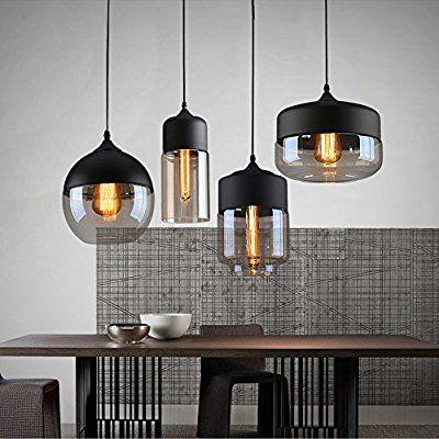 weare home retro restaurant oder k che durchsichtiger glas lampenschirm pendelleuchten. Black Bedroom Furniture Sets. Home Design Ideas