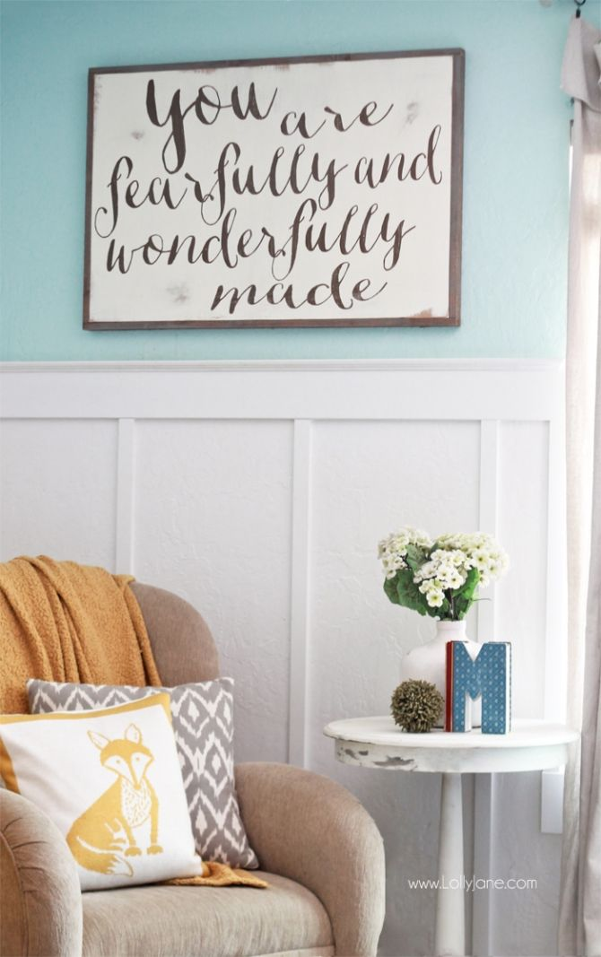 Tips + Tricks for Decorating with Baskets: Come see this pretty family room that is livable, functional and still pretty! Lots of home decor ideas including an easy gallery wall!