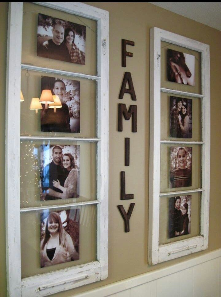 Use old windows and Do It Yourself Today.  Pinterest Wall Decor | DIY HOME DECOR- Wall Decor