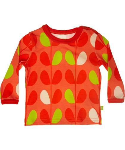 Mala oranje t-shirt met super zomerse print #emilea