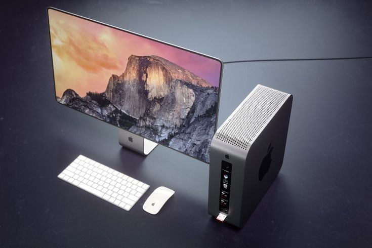 This Mac Pro concept envisions the refreshed device as a modular Mac Mini