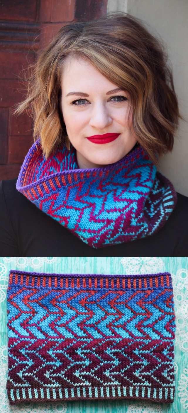 fair isle cowl knitting pattern free