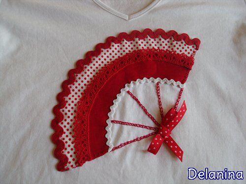 Camiseta abanico flamenco patchwork