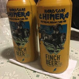 Hardcore Chimera brewed by Finch Beer Company as an IPA - Imperial / Double style beer, which has 3.9 out of 5, with 34,834 ratings and reviews on Untappd.