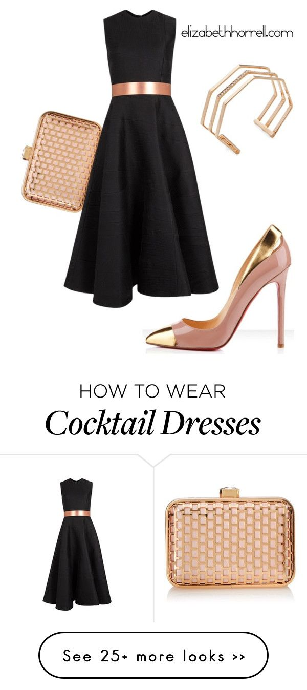 Black dress match with what colour -  Liz By Elizabethhorrell On Polyvore Featuring La Regale Christian Louboutin Roksanda And