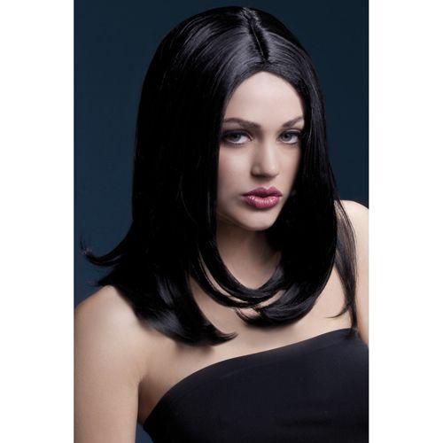 Heb jij ook altijd al eens zwart, lang haar willen hebben? Dan is dit je kans! Deze prachtige pruik met lange zwarte lokken zullen jouw wensen in vervulling laten gaan. Draag hem naar een speciaal feest, avondje uit of tijdens een wilde nacht in de slaapkamer. Met deze pruik heb je altijd succes!