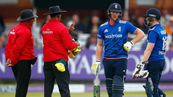 Ashes tour 2015, 2nd ODI. The Lord's ODI ended with boos ringing around the ground, a frosty handshake and a terse exchange of views between Eoin Morgan and Steven Smith following the controversial dismissal of Ben Stokes for obstructing the field. Young captain Smith did well to know the law but was maybe unjust in pushing the appeal.